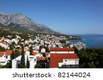 view of croatian resort baska... | Shutterstock . vector #82144024