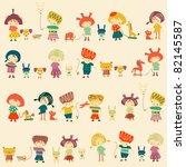 child's background | Shutterstock .eps vector #82145587