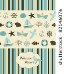 Summer Card With Nautical...