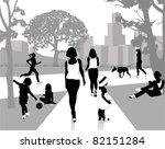 stock vector illustration  walk ... | Shutterstock .eps vector #82151284