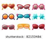 sunglasses vector set   Shutterstock .eps vector #82153486