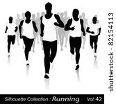 vector silhouettes.jogging in... | Shutterstock .eps vector #82154113