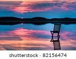 Scenic View Of Sunset Over...