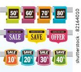 sale promotion design elements | Shutterstock .eps vector #82164010