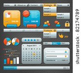 collection of website elements | Shutterstock .eps vector #82174789