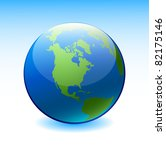 globe on a blue background | Shutterstock .eps vector #82175146