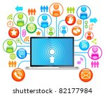 social network ... | Shutterstock .eps vector #82177984