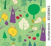 summery fruit forest | Shutterstock .eps vector #82180861