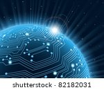 technology planet. vector... | Shutterstock .eps vector #82182031