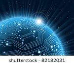 technology planet. vector... | Shutterstock .eps vector #82182031