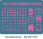 100 document icons  signs ... | Shutterstock .eps vector #82187137
