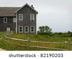 """Cape Card Architecture""  A building along the coastline of Cape Cod in Massachusetts. - stock photo"