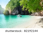 boat on island in thailand | Shutterstock . vector #82192144