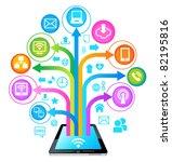 social network  communication... | Shutterstock .eps vector #82195816