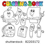 Coloring Book School Cartoons ...