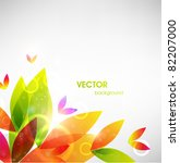 Vector Abstract Flower...