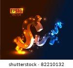 dollar vector background   Shutterstock .eps vector #82210132