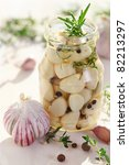 Pickled Garlic With Spices And...