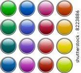a lot of metallic buttons.... | Shutterstock .eps vector #8223886