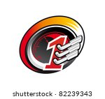 Racing symbol, such a logo. Jpeg version also available in gallery - stock vector