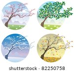 cartoon illustration of tree...