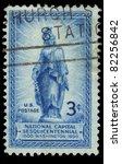 usa   circa 1950   a stamp... | Shutterstock . vector #82256842