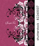 Floral Invitation Card With...