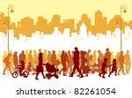 crowd of people walking on a... | Shutterstock .eps vector #82261054