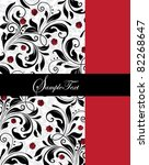 invitation card with red and... | Shutterstock .eps vector #82268647
