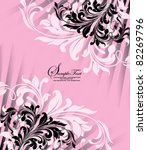 Pink Invitation Card With...
