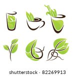 vector collection of eco drink