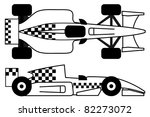 race car with checkered design | Shutterstock .eps vector #82273072