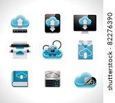 vector cloud computing icon set | Shutterstock .eps vector #82276390