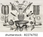 old illustration of weapons ... | Shutterstock . vector #82276702