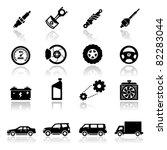 Stock vector icons set auto parts 82283044
