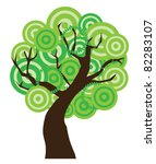 vector abstract tree | Shutterstock .eps vector #82283107