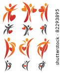 vector collection of human love | Shutterstock .eps vector #82293895