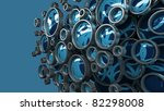 Abstract 3D background for company presentation blue - stock photo