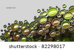 Abstract 3D background for company presentation green - stock photo