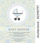 baby shower announcement | Shutterstock .eps vector #82298797