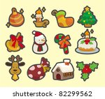 cute cartoon christmas element... | Shutterstock .eps vector #82299562