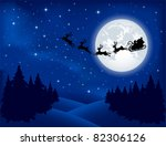 Background With Santa S Sleigh...