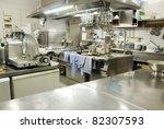 restaurant kitchen   Shutterstock . vector #82307593