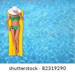 relaxing in a pool | Shutterstock . vector #82319290