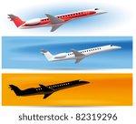 vector illustrations of planes | Shutterstock .eps vector #82319296