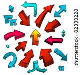 arrows   Shutterstock .eps vector #82333228