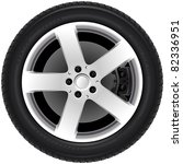 car wheel  6 . the series of... | Shutterstock .eps vector #82336951