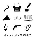 detective icon set | Shutterstock .eps vector #82338967