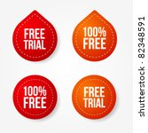free trial badges and stickers | Shutterstock .eps vector #82348591
