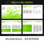 template of brochure design... | Shutterstock .eps vector #82349608